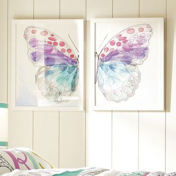 Framed Split ButterFly Wall Art