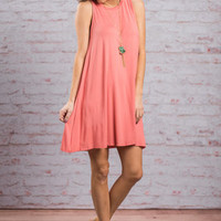 Simple Gifts Dress, Coral