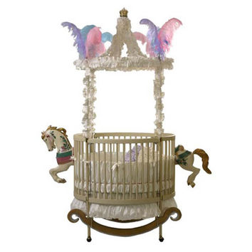 Equestrian Dream Round Crib in Selected Finish