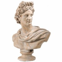 Antiquely Composed Placidia Bust Statue By Casagear Home
