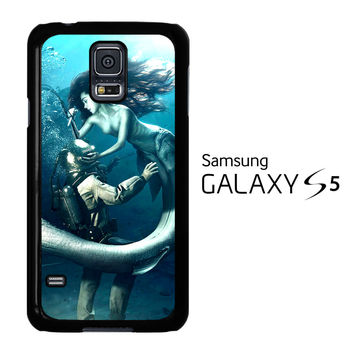 Diver and The Mermaid Samsung Galaxy S5 Case