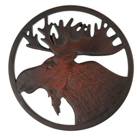 Moose Trivet made from Recycled Glass