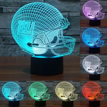 NFL Team Collection Tampa Bay Buccaneers New York Giants Seattle Seahawks 3D Light Touch Button Table Lamp Night light IY803677