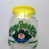 Vintage Cabbage Patch Kids Glass Canister 1984