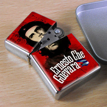 Che Geuvara Revolution Guerrilla Flip Top Lighter + Gift Box