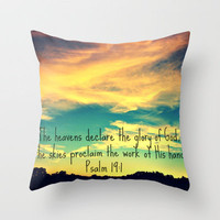 God's Handiwork Throw Pillow by Caleb Troy | Society6