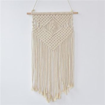 Vintage Macrame Wall Art Wedding Home Decor Handmade Wall Hanging Tapestry