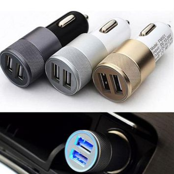 1 Pc Dual USB Cigarette Lighter Socket Car Charger Double Twin 2 Port 12V 3.1 AMP 3 Colors Mobile Phone Accessories & Parts