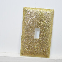 single light switch cover gold glitter