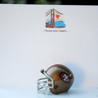 I found your Heart in San Francisco Stationery or Valentines