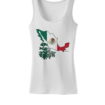 Mexican Roots - Mexico Outline Mexican Flag Womens Tank Top by TooLoud