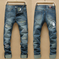 Fashion Men Slim Korean Pants Jeans [6528576323]