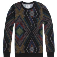 On The Byas Mason Chest Pocket Crew Fleece - Mens Shirt - Black