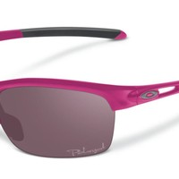 Oakley Womens Sunglasses - RPM - Squared Magenta, OO Grey Polarized OO9205-16