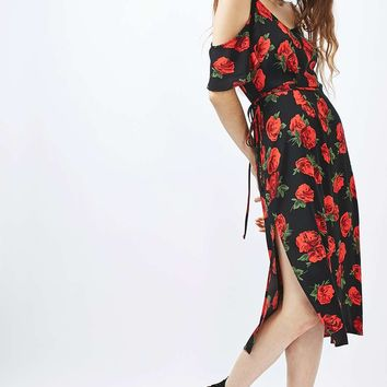 Rose Cold Shoulder Midi Dress - New In This Week - New In