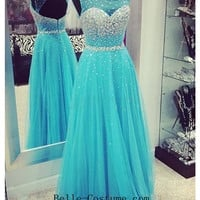 Custom-made Backless Prom Dresses, Strapless Sequin Prom Dresses, Backless Prom Dress, Long Prom Dresses
