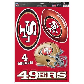 SAN FRANCISCO 49ERS MACBOOK LAPTOP MULTI USE REMOVABLE REUSABLE DECALS NEW