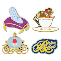 Disney Cinderella Pin Trading Flair Set Jaq Gus Glass Slipper Pumpkin Coach New