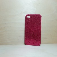 For Apple iPhone 4 / 4s Rose Pink Glitter Case