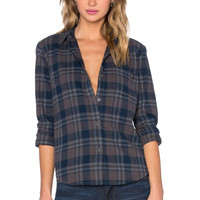 Obey June Lake Button Up in Charcoal Multi