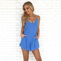 Coast To Coast Romper in Sky Blue