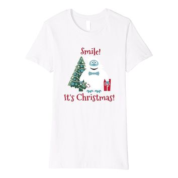 Smile! It's Christmas! T-shirt Abominable Snowman Present