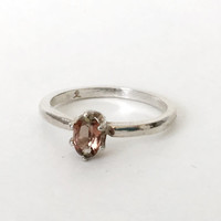 Sterling Silver Andalusite Unique Gemstone Engagement Ring - Featured 15% off