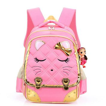 Girls bookbag Cute Children Girls Backpack Primary School Bag Bookbag Orthopedic Princess Schoolbags BS88 AT_52_3