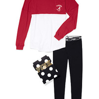 University of Alabama Pocket Varsity Crew and Leggings Gift Set - PINK - Victoria's Secret