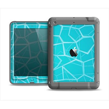 The Blue Translucent Outlined Pentagons Apple iPad Mini LifeProof Nuud Case Skin Set