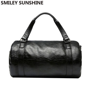 High Quality Tote Leather Travel Bag Pattern Fashion Men Weekend Bags Duffle Business Luggage Traveling Bags 2016
