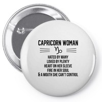 Capricorn Woman Pin-back button