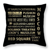 "Moscow Throw Pillow 14"" x 14"""