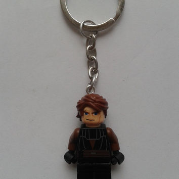 Star Wars Anakin Skywalker  minifigure keychain keyring made with LEGO® bricks