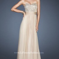 Strapless Sweetheart Gown by La Femme