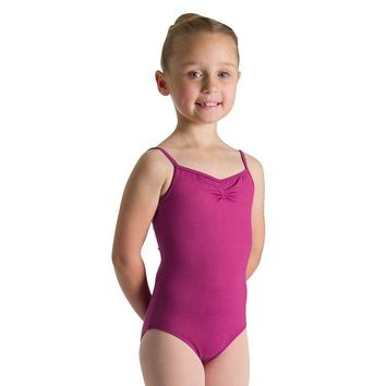 Bloch Girl's Tactel Gathered Camisole Leotard - Clearance