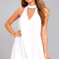 Groove Thing White Swing Dress