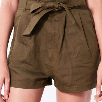 BDG Paperbag High-Rise Short | Urban Outfitters
