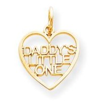 DADDY'S LITTLE ONE Charm in 10k Yellow Gold