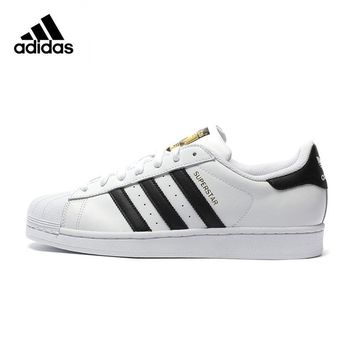 Original Adidas Superstar Classics Skateboarding Shoes Unisex Men's and Women's Breathable Skateboarding Shoes Sports Sneakers