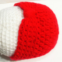 Red Turban Style Baby Beanie Hats, for Newborn Girls, Ready to Ship Crochet with Love by GSSBEAUTY