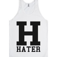 Hater Tank Top-Unisex White Tank
