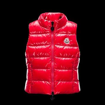 Moncler new Children's wear winter down Vest/red/white