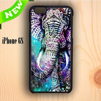 Dream colorful Elephant Aztec In Galaxy Nebula Space iPhone 6S Case