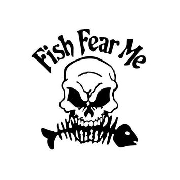 Fish Fear Me Car Decal