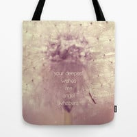angel whispers Tote Bag by ingz