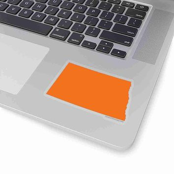 North Dakota State Shape Sticker ORANGE