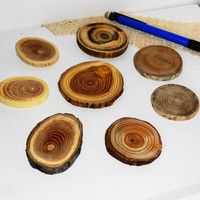 Jewelry SupplyNatural wood slices discs, rustic weddings, jewelry findings, jewellery making parts. Nature wooden texture, colors. WOOD.
