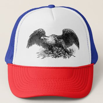 eagle bird animal nature illustration trucker Hat