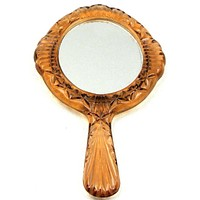 Light Pink Faceted Hand Mirror